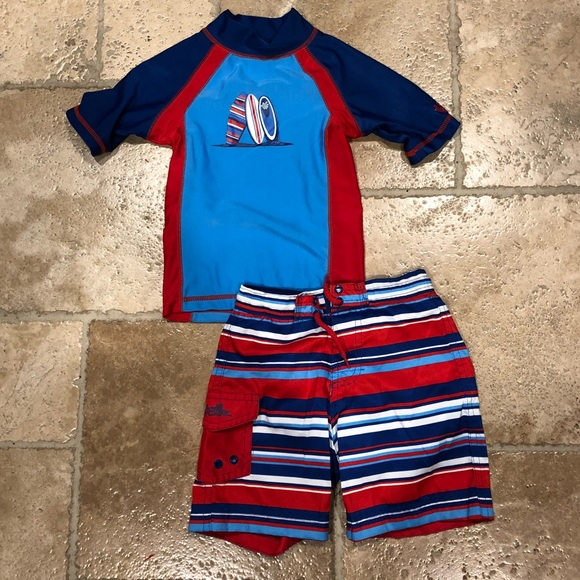 4c92a7a418758 Swim | Toddler Boys Trunks And Rash Guard | Poshmark